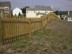 4' high colonial gothic picket