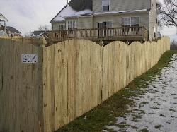 5' solid board w/convex top & colonial gothic posts