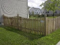 4' high concave picket w/colonial gothic posts