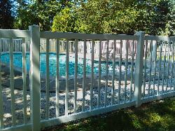 19) 4' high pool code vinyl picket