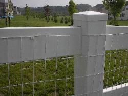 15) white vinyl coated welded wire mesh attached w/nylon clip